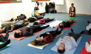 Séance de yoga pour le CJD Thionville